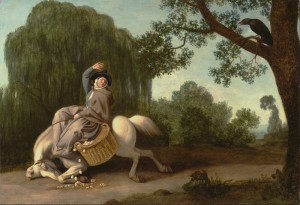 George Stubbs: The Farmer's Wife and the Raven Kuva: Wikimedia Commons